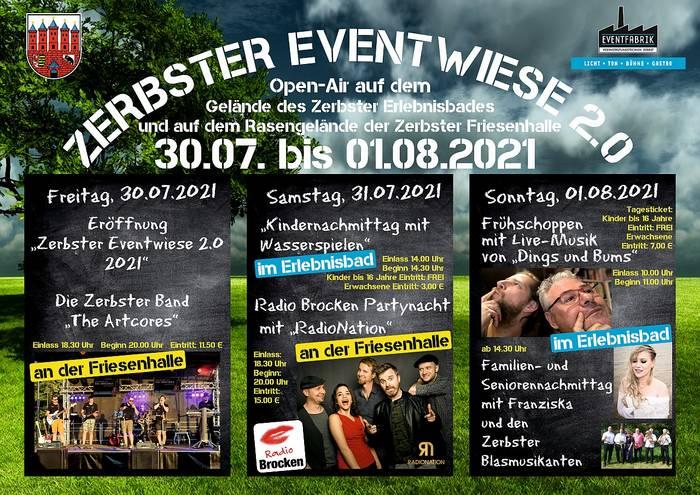 Zerbster Eventwiese 2021 vom 30. Juli bis zum 01. August