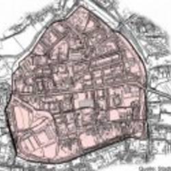 1) Innenstadt Mitte; Gebiet der Innenstadt innerhalb der Stadtmauer