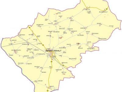 Karte Zerbst