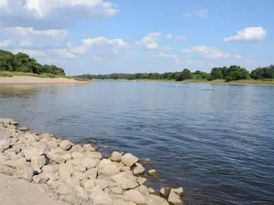 Flusslandschaft an der Elbe